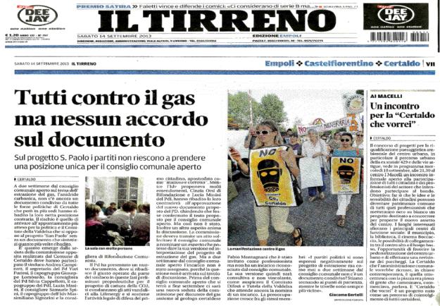 2013.09.14 il Tirreno_CO2 tutti contro