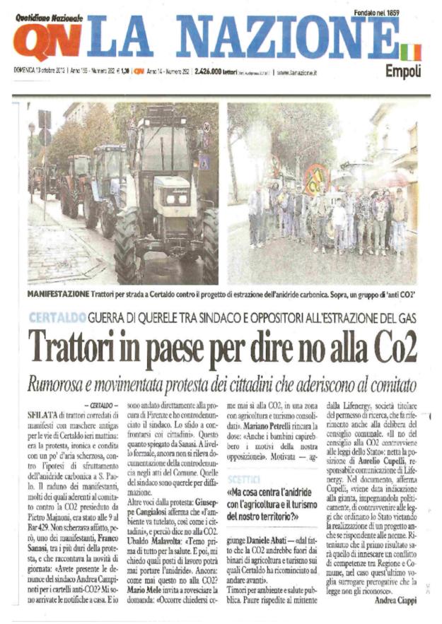 2013.10.13 la Nazione_sagra CO2