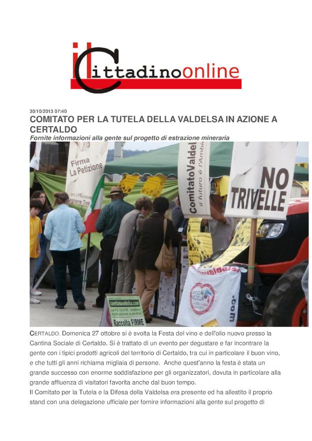 2013.10.30 Cittadino on line_Comitato in azione a Certaldo_1