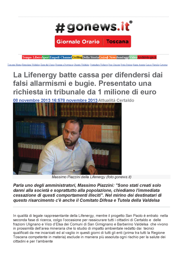 2013.11.08 gonews_Piazzini chiede 1 milione_1