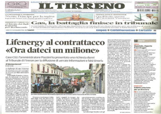 2013.11.09 ilTirreno_Piazzini chiede 1milione