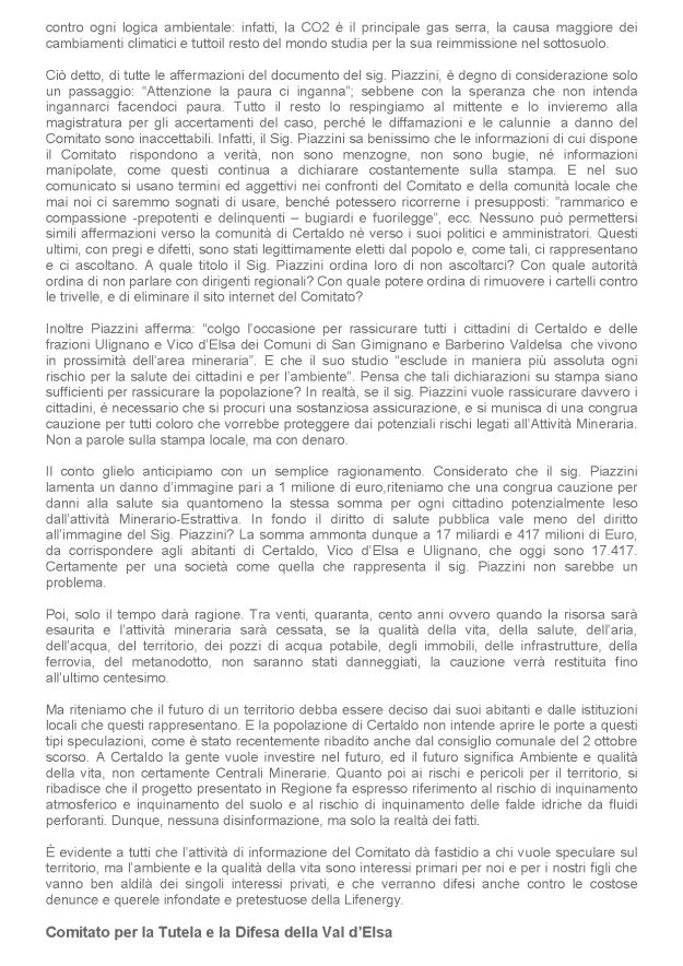 2013.11.12 Cittadino on line_ comitato risponde la salute non ha prezzo_2
