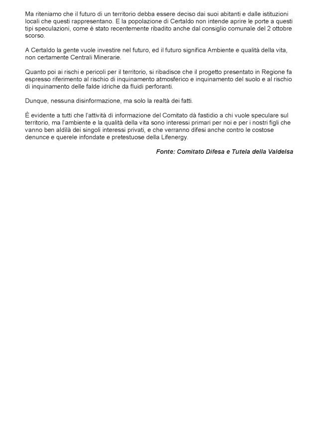 2013.11.12 gonews_Comitato risponde_neanche se oro_3