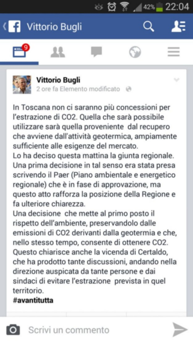 2014.09.01 Facebook_Stop CO2 Vittorio Bugli