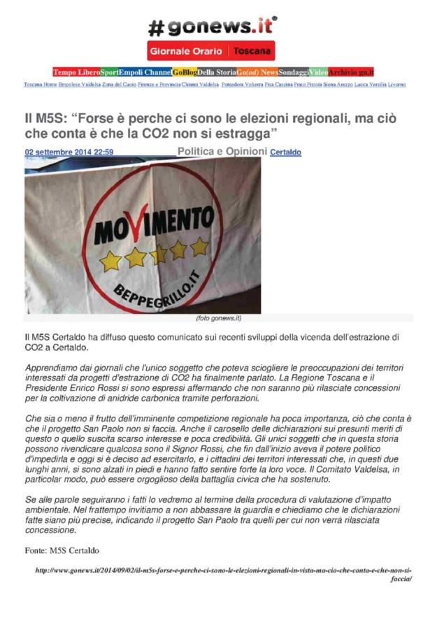 2014.09.02 gonews_5stelle Certaldo_NO CO2 x elezioni regionali