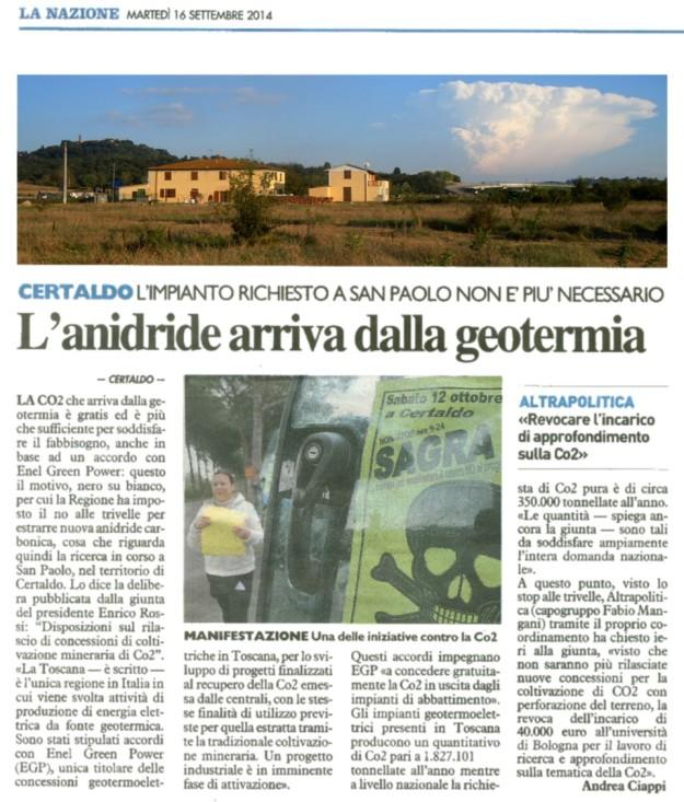 2014.09.16 laNazione_l'anidride arriva dalla geotermia