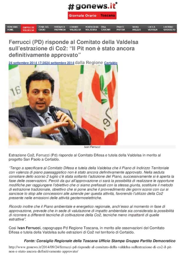 2014.09.24 Gonews_PD Ferrucci risponde al comitato