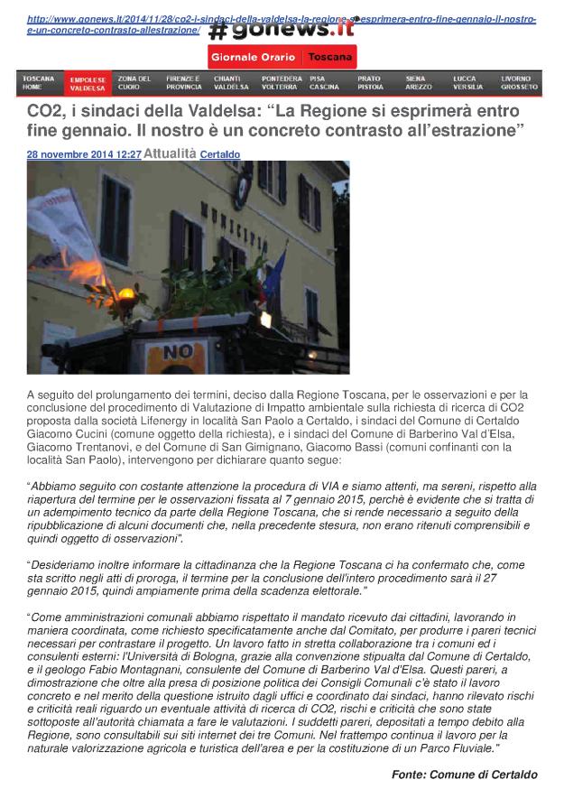 2014.11.28 Gonews_CO2 i Sindaci_contrasto all'estrazione