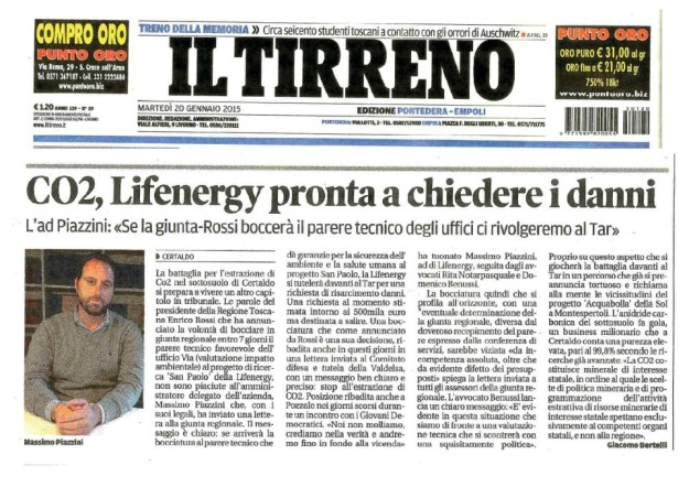 2015.01.20 ilTirreno_Lifenergy pronta per i danni