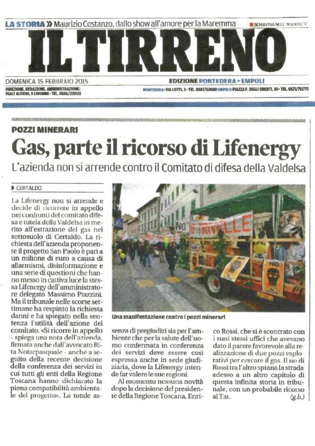 2015.02.15 il_Tirreno_Lifenergy ricorso contro Comitato