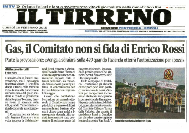 2015.02.16 il Tirreno_comitato non si fida di ROSSI