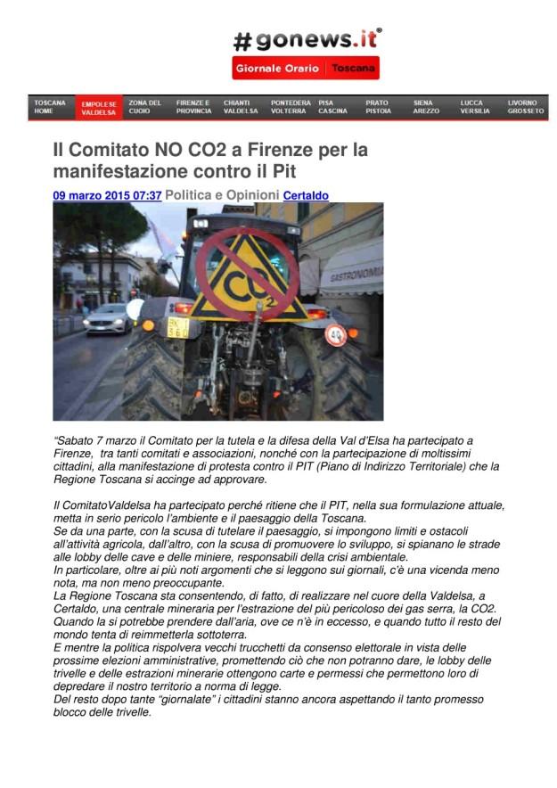 2015.03.09 gonews_comitato NO CO2 a Firenze manifestazione 01