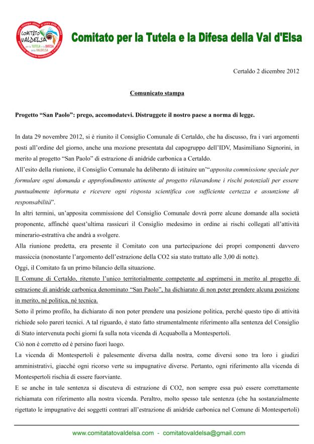 02.12.2012 comunicato stampa1