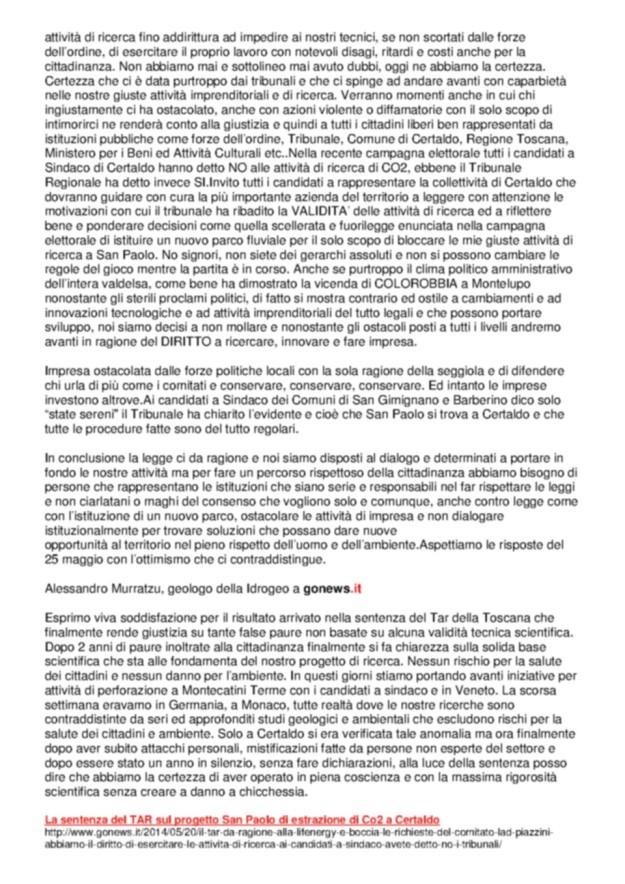 2014.05.20 gonews_Piazzini e TAR_2