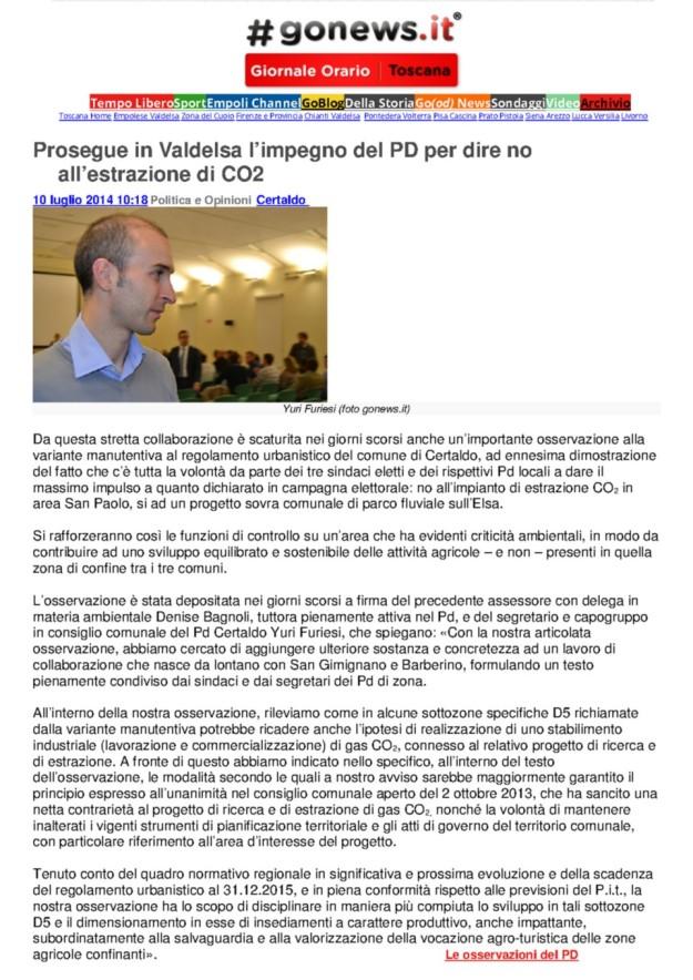 2014.07.10 gonews_il PDpresenta osservazioni al RU